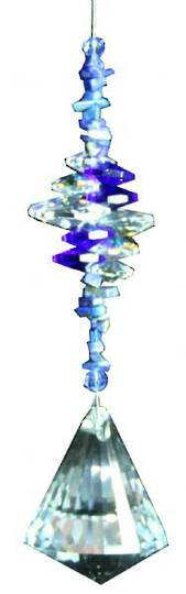 Cluster Diamond Blue Suncatcher
