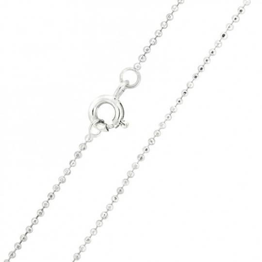 Sterling Silver Ball Neck Chain CSBL10/40