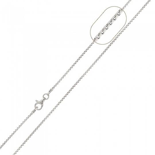 Sterling Silver Neck Box Chain CSX26/45