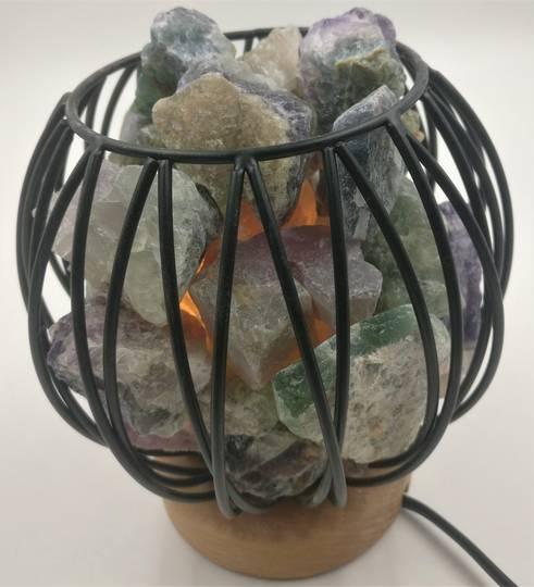 Crystal Energy Cage Fluorite Lamp- Balance