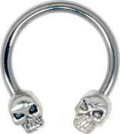Skull Circular Nipple Barbell
