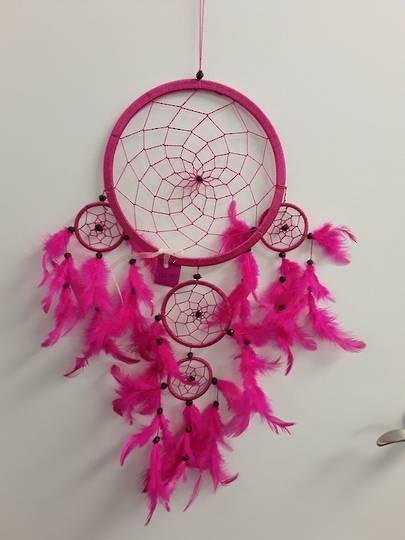 Dark Cerise Pink Dreamcatcher 22cms