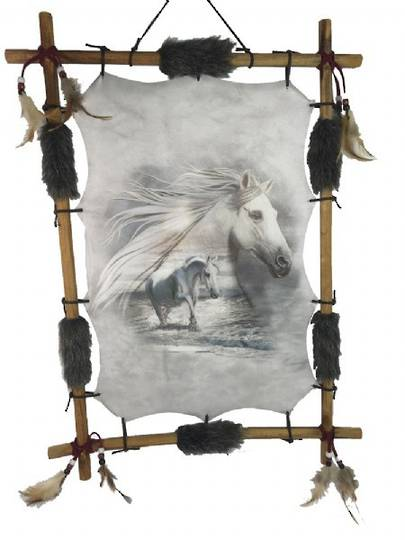 DreamCatcher White Horse 56x41 cms