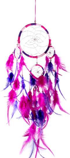 Dreamcatcher Pink Fuschia Purple 12cm by36