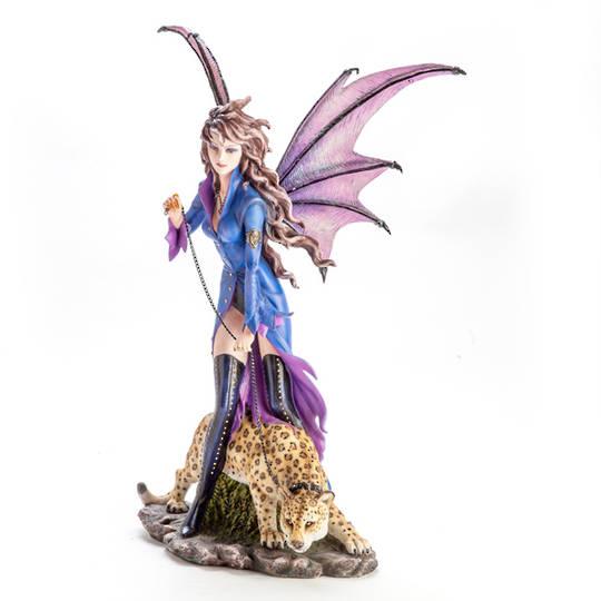 Executive Vampire Fairy with Pet Leopard