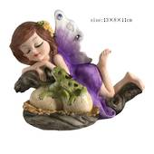 Purple Fairy with Hatching Dragons