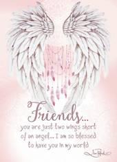 Friends Ceramic Plaque - Wings Of Love