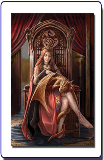 Friends Forever Anne Stokes Greeting Card and Envelope