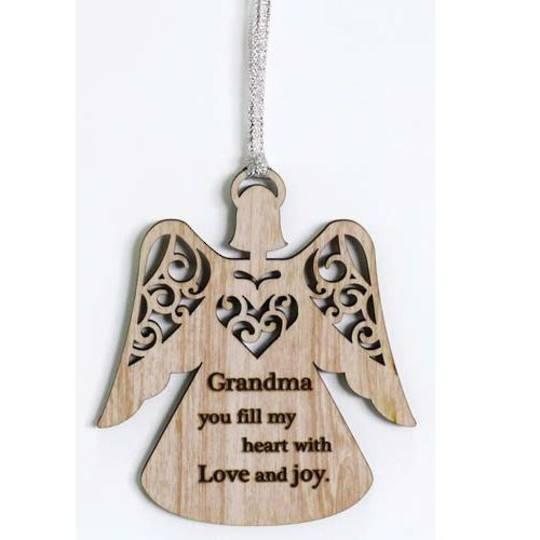 Hanging Angel Ornament Grandma