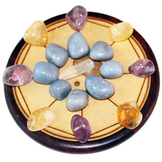 Home Blessing Crystal Grid and Crystals