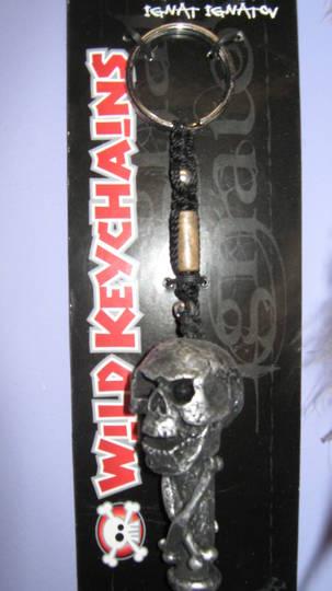 Black Skull Keyring