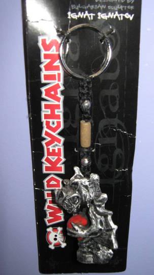 Black Dragon with Ball Keyring