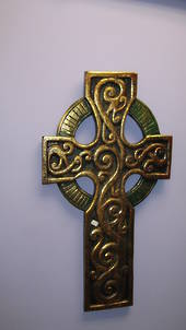 Large Gold Wooden Cross