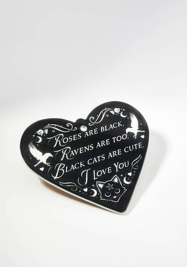 ROSES ARE BLACK - POETIC HEART Plaque