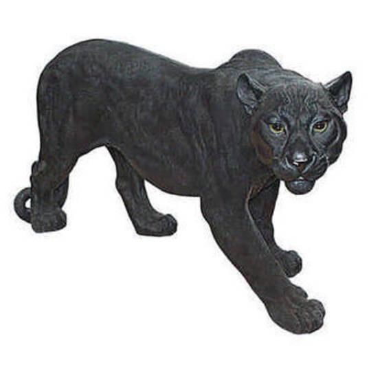 Shadowed Predator Black Panther Statue: Large