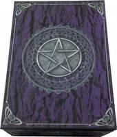 Purple Pentagram Tarot /Trinket  Box