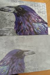 Magical Raven Card and Envelope