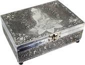 Meditation Buddha White Metal Box