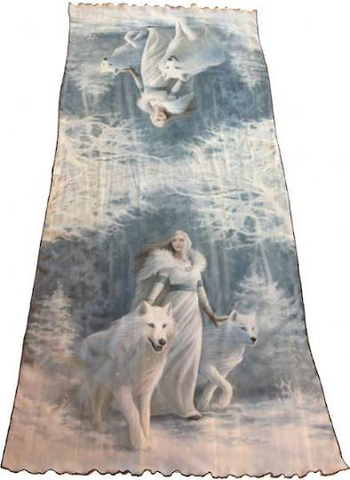 Winter Guardian Silk Scarf