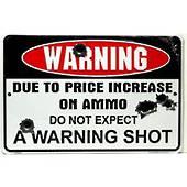 No Warning Shot Metal Wall Art