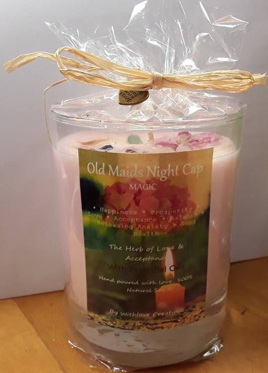 Old Maids Night Cap Magical Candle (love and acceptance)