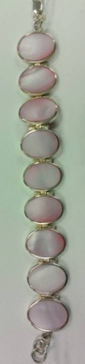 Pink Shell Sterling Silver Bracelet was $180 now $65