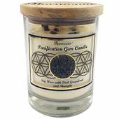 Gemstone Candle – Purification Shungite