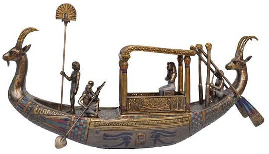 King Tutankhamun on Boat