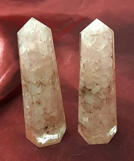 Rose Quartz Orgonite Point