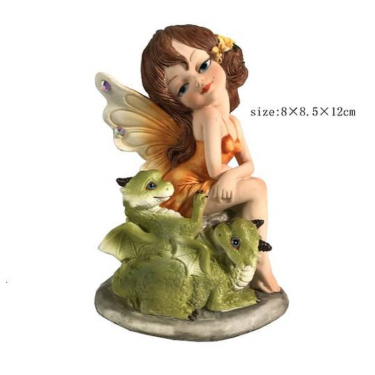 Saffron Fairy with Baby Dragons