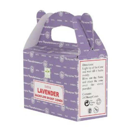 Satya Lavender Backflow Incense Cones