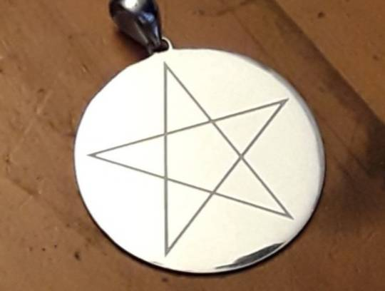 Silver Laser Cut Pentagram Pendant