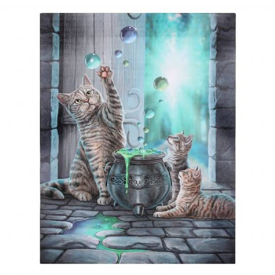 Small Hubble Bubble Cat Canvas