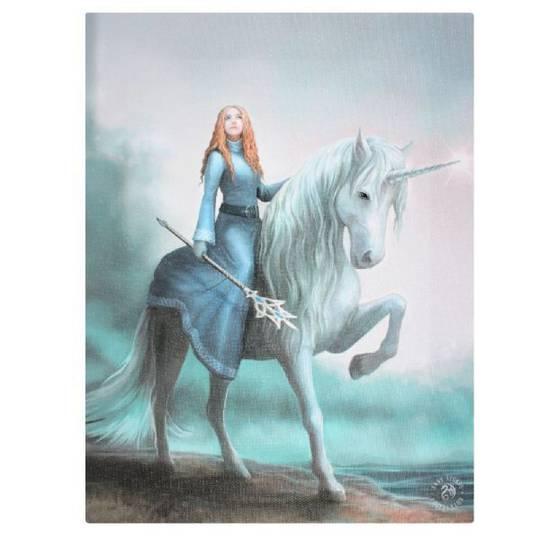 Small Journey Starts Unicorn Canvas