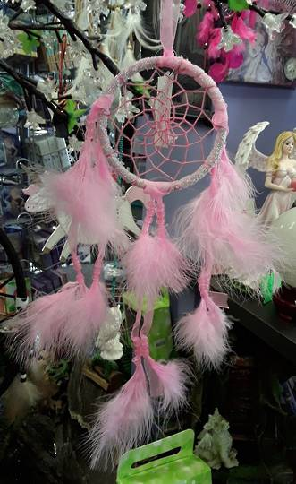 Small Pink Sparkle Dreamcatcher