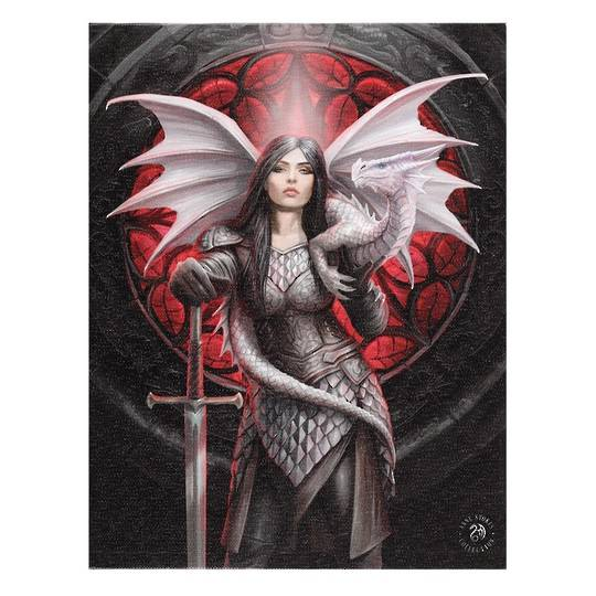 Small Dragon Valour Canvas by Anne Stokes