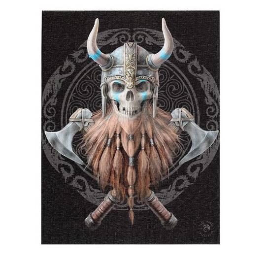 Small Viking Skull Canvas