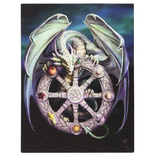 Small Wheel of the Year Dragon Canvas
