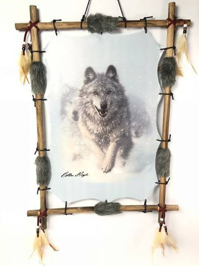 Snow Wolves Dreamcatcher
