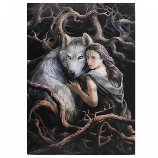 Soul Bond Wolf Canvas Anne Stokes
