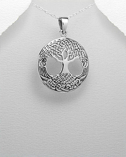 Sterling Silver Celtic and Tree Of Life Pendant a
