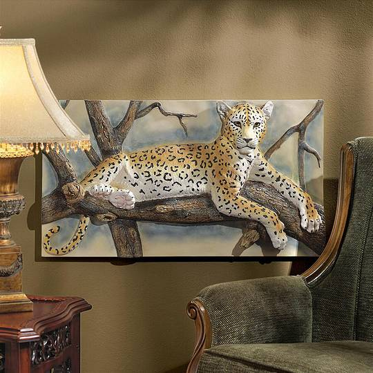The Leopards Lair Sculptural Wall Frieze
