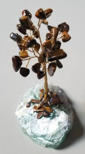 Tigers Eye Tree on a Fluorite Base 9cms