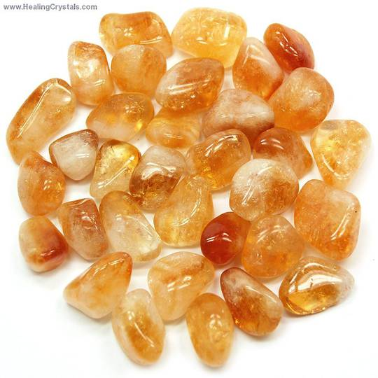 Small Citrine Crystal Tumbled Piece