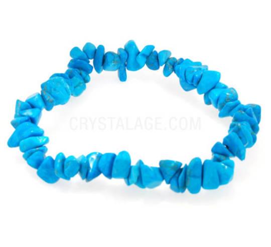 Turquoise Howlite Chip Bracelet