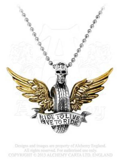 Ride To Live Pendant and Necklace