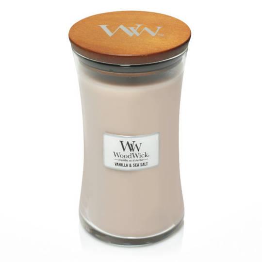 WoodWick Large Candle, Vanilla and Sea Salt