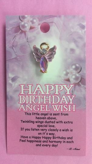 Happy Birthday Angel Pin