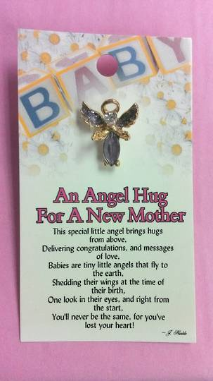 An Angel for A New Mother Angel Pin