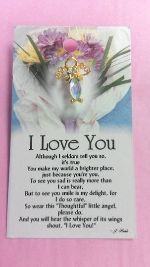I Love You Angel Pin